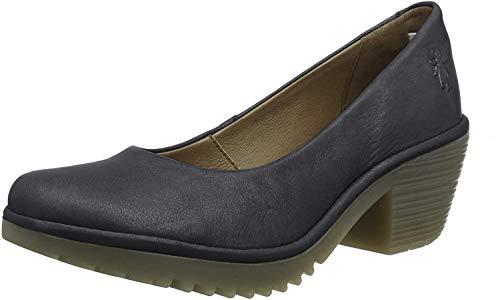 Fly London Woda996fly, Zapatos de tacón con Punta Cerrada para Mujer, Azul (Anthracite 001), 42 EU