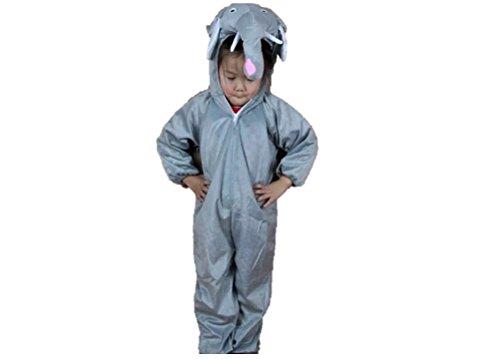 Matissa Niños Disfraces de Animales Niños Niñas Unisex Disfraces Cosplay Niños Onesie (Elefante, L (para niños de 105 - 120 cm de Altura))