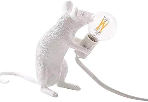 Lámpara de mesita de Noche lámpara de Escritorio de ratón pequeño lámpara de Escritorio de ratón de Resina lámparas de Lectura de Forma Animal Dormitorio Pared Interior Moderno-Sentado - Izquierda