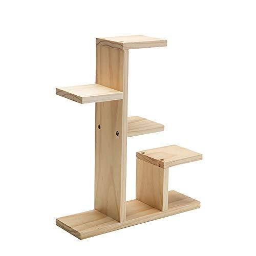 GFHJ1201 Mini-houten plantenbloemenstand, bedrijfsindicator, ladderkast, bloemen-pot-frame-opbergkastje, display-vak voor binnen en buiten