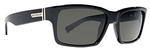 VonZipper Fulton Lunettes de soleil carrées Noir brillant/gris 100 mm