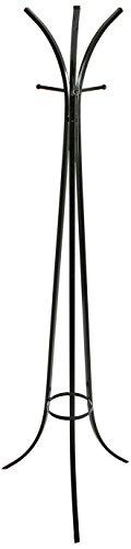 Versa 19840204 Perchero de pie Blanco Negro, Metal, 182x54x54 cm, 8 colgadores