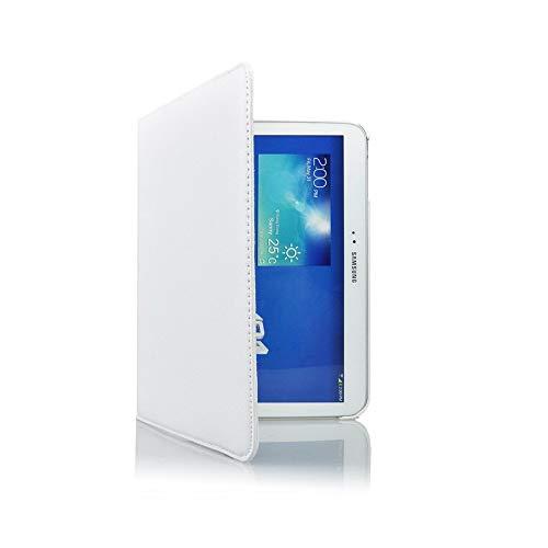 COOVY® Cover für Samsung Galaxy TAB 3 10.1 GT-P5200 GT-P5210 GT-P5220 Rotation 360° Smart Hülle Tasche Etui Case Schutz Ständer Auto Sleep/Wake up | weiß