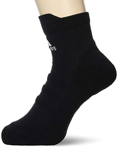 adidas Ask Ankle LC Calcetines, Unisex Adulto, Black/White/Black, XL