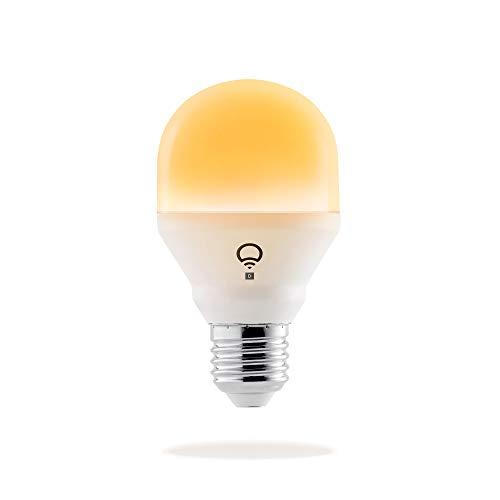 LIFX Mini Day&Dusk E27 Lampadina a LED Wi-Fi Smart, Regolabile, Multicolor, Dimmerabile, non Richiede un Hub, Funziona con Alexa, Apple HomeKit e Google Assistant [Classe di efficienza energetica A+]