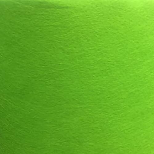 ZXC Hoja de Fieltro Tela de Fieltro 85cm de Ancho Telas Manualidades para Patchwork Costura DIY Artesanías de Bricolaje Manualidades 1m Vendido por Metro(Color:Verde Fluorescente)