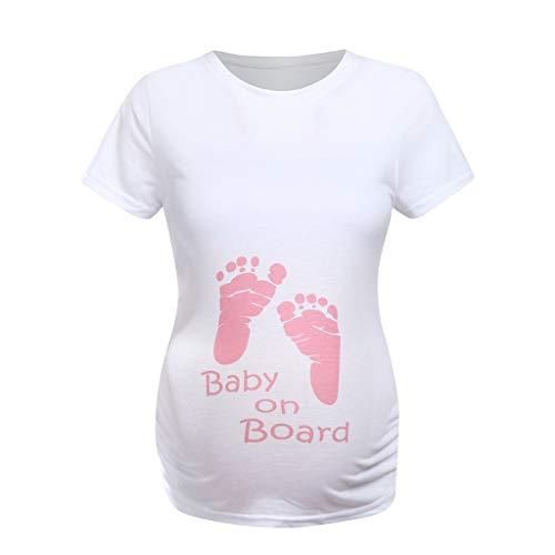 Allence Lustige witzige süße Umstandsmode | Umstandsshirt mit Motiv für die Schwangerschaft | T-Shirt Schwangerschaftsshirt, Kurzarm, Baumwolle Schwangerschaft Tops