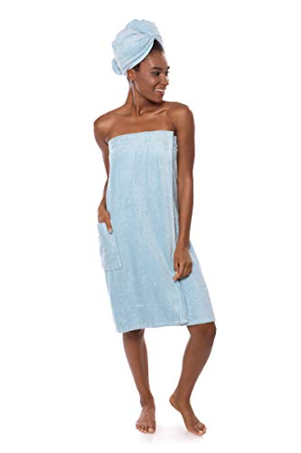 Women's Towel Wrap - Bamboo Viscose Spa Wrap Set by Texere (The Waterfall)
