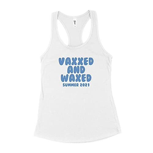 LibbysDesignsStore Vaxxed and Waxed Tank Vaxxed Tshirt Women White