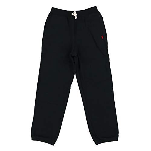 Polo Ralph Lauren Boys Fleece Cotton Sweatpants (Black, Large / 14-16)