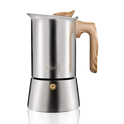 Fantastic Deal! Stainless Steel Stovetop Espresso Coffee Maker|6 cups espresso pot | Mocha pot 300ml...