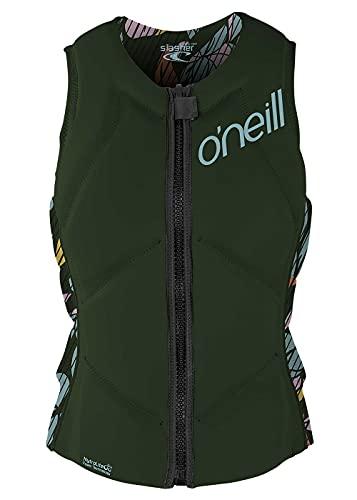 ONeill Womens Slasher Comp Watersports Waterski Jetski Wakeboarding Safety Impact Vest - Top - Dark Olive Baylen