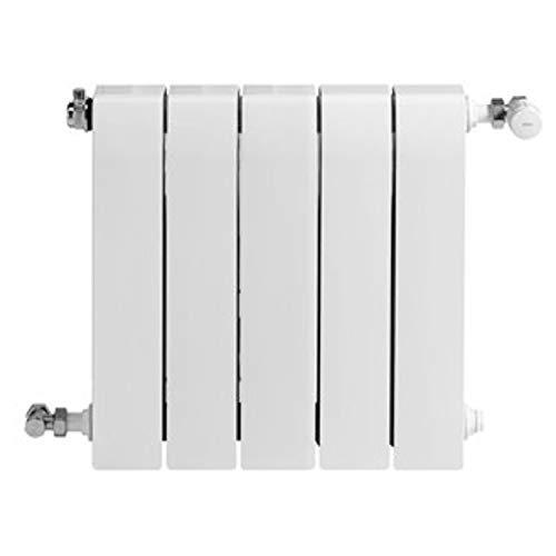 Baxi Radiador de aluminio de alta emisión térmica Batería, 5 elementos, serie Dubal 60, 8,2 x 40 x 57,1 centímetros (Referencia: 194A25501), blanco