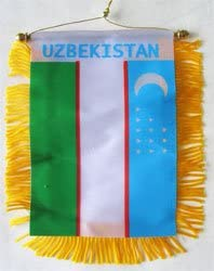 Uzbekistan NEW before 70% OFF Outlet selling - Window Hanging Flag
