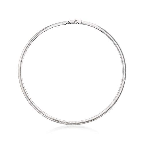 Ross-Simons Italian 6mm Sterling Silver Omega Necklace