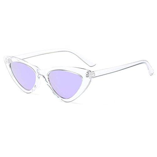 Hzjundasi Moda Mod Chic Super Cat Eye Triangle Gafas de sol Mujer Vintage Retro Eyewear