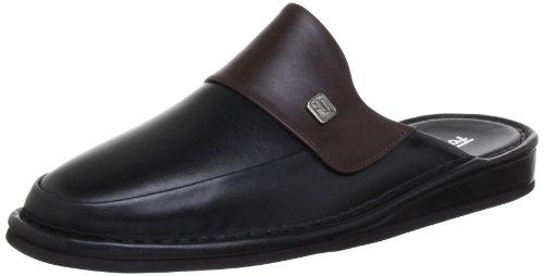 Fortuna Herren Milano Pantoffeln, Schwarz (schwarz/oxblood 312), 47 EU