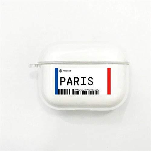 Carcasa protectora compatible con AirPods Pro Case, funda de protección de silicona antigolpes, compatible con Apple Airpods Pro/Airpods 3, París