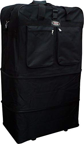 40' XXL Heavy Duty Expandable Rolling Duffel Bag Wheeled Spinner Suitcase Luggage