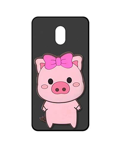 Sunrive Kompatibel mit Meizu M3 Max Hülle Silikon, Handyhülle matt Schutzhülle Etui 3D Hülle Backcover (A1 Schwein) MEHRWEG+Gratis Universal Eingabestift