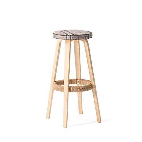 LIPENLI Bar Chair Bar Stool Kitchen Coffee Bar Decorazioni di Canapa Gambe Rope in Legno Massiccio Sgabello Una varietà di Colori 31 x 45 x 70,5 Centimetri Bar Stool A