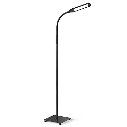 Miroco - Lámpara de pie LED con 4 niveles de brillo y 4 temperaturas de colores, luz LED ajustable, lámpara de pie ajustable para costura, sala de estar, recámara, oficina