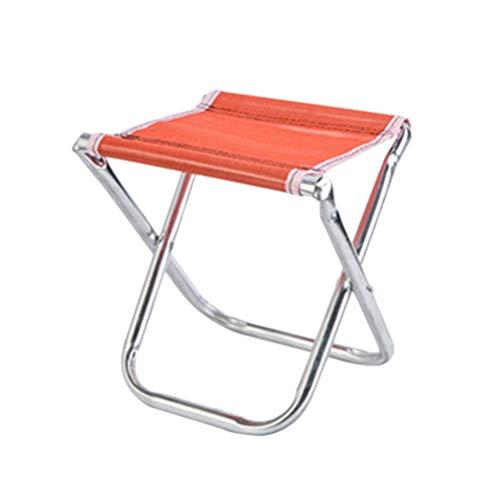 LIOOBO Tragbarer Mini-Klapphocker, Campinghocker, Outdoor Klappstuhl Slacker Chair für BBQ, Camping, Angeln, Reisen, Wandern, Garten, Strand