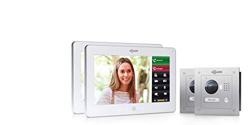 Goliath AV-VTC786 IP video-deurintercomsysteem, inbouw, HD-deurstation, roestvrij staal, app met deuropener-functie, 10 inch touchscreen, wifi, 1 familiehuis
