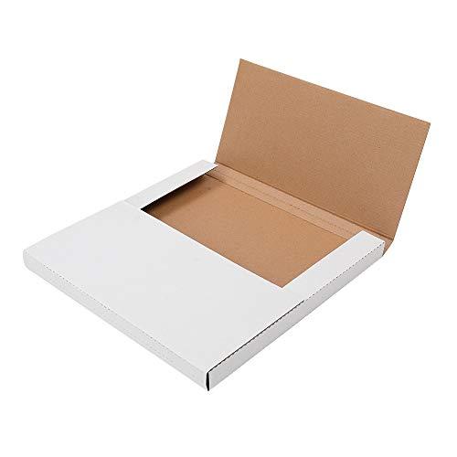 25 Pack White Vinyl Record LP Shipping Mailer Boxes,Record Mailers, Album Paper Box,Record Album Mailer