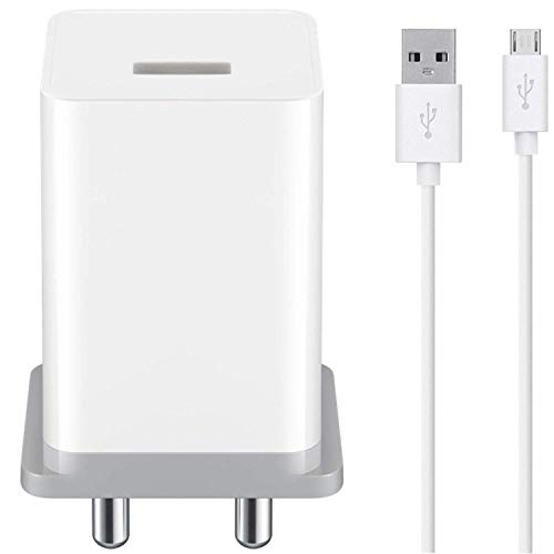 Ultra Mobile Charger For ZTE Blade V7 Max Original Mobile Charger | B Type Wall Charger, Android Smartphone Qualcomm 3.0 Charger, Travel Charger, Rapid, Dash, VOOC, AFC Charger, Charger Adapter Certified Original Heavey Duty Charger, Hi Speed Fast Charging Travel Charger With 1.2 Meter USB Charging Data Cable OPO ( 2.4Amp , White )