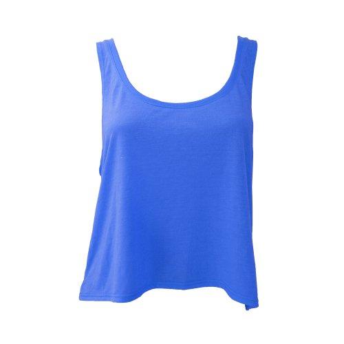 Bella Canvas- Camiseta de tirantes Flowy para chica/mujer (L/XL/Azul eléctrico)