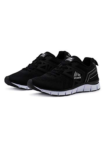RBX Men's Lightweight Athletic Shoe Black/Silver 10