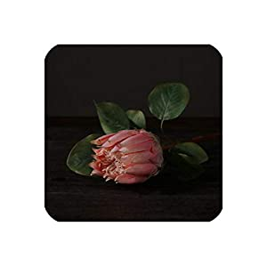 Perfect-display Luxury Big Artificial Africa Protea Cynaroides Silk King Flowers Branches Fake Flores for Home Decoration Wreath Plants Floral,Pink