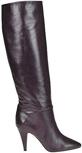 Céline Damen MCGLCAS000006166I Bordeauxrot Leder Stiefel