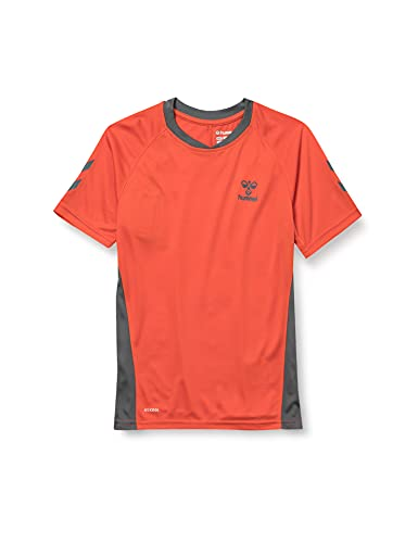 HUMMEL ACTION JERSEY S/S KIDS Sweatshirt, Fiesta/Turbulence, 116