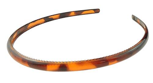 Serre-tête de 1 cm, brun tortue en plastique ,Dames Fillettes, Serre-tête Alice brun