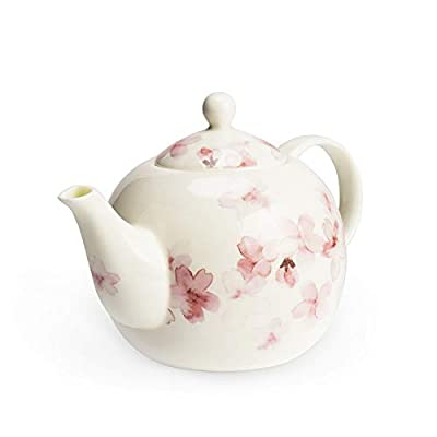 Ceramic Teapot 30 Ounce Blooming & Loose Leaf Tea pot with Spout Filter, Traditional Japanese Style Handcraft