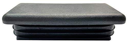 dexierp Tapón de inserción de plástico de Tubo Rectangular de 2 x 4 Pulgadas (Paquete de 2), Tapa de Extremo de Poste de Tubo, Deslizamiento de Silla