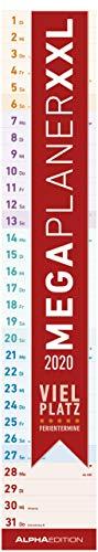 Megaplaner XXL 2020 - Streifenkalender (17,5 x 98) - mit Ferienterminen - viel Platz für Notizen - Streifenplaner - Wandplaner - Küchenkalender