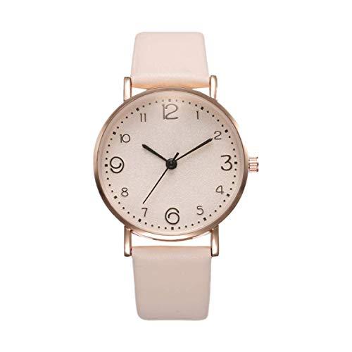 Reloj para Mujer, Reloj De Mujer con Cinturón Simple De Moda, Reloj Casual De Cuarzo para Mujer, Adecuado para Mujer (Blanco)