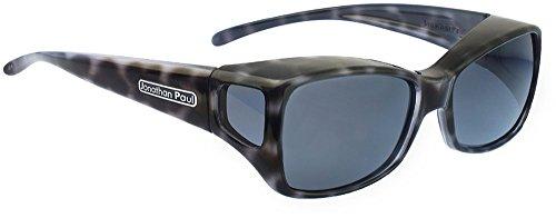 Jonathan Paul Fitovers Dahlia Medium Polarized Over Sunglasses ; Black-Cheetah & Polarvue Gray