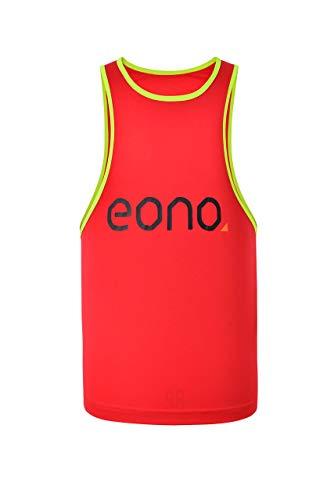 Eono Essentials - Peto de entrenamiento para niño (rojo, 7 años)