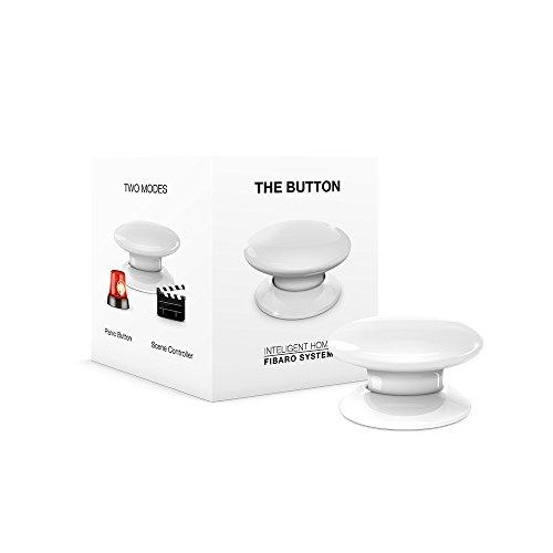 FIBARO The Button Z-Wave Plus Scene Controller On-Off Trigger, FGPB-101-1, White