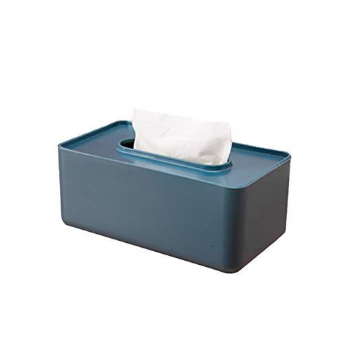 zzzddd Caja De Servilletas,Plástico Azul Napkin Caja Tissue Box Wet Tissue Holder Baby Wipes Paper Storage Box Paper Towel Dispenser Home Napkin Organizer