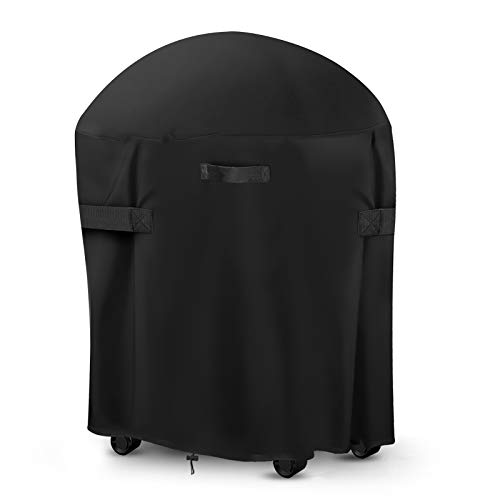 king do way Funda Redonda para Barbacoa Impermeable, 77x90cm, Cubierta para Barbacoa 420D Oxford, Protector para Barbacoa Anti-Viento/UV/Impermeabilidad para de Carbón Weber de 30 Pulgadas
