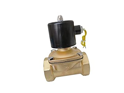 """2"""" Inch 110V AC Brass Electric Solenoid Valve 110 VAC 120 Volt from XSPANDER"""