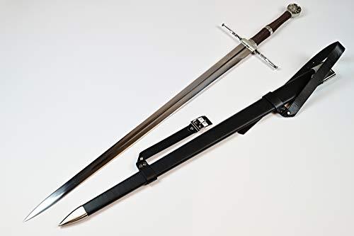 Swords and more The Witcher Schwert - Geralt von Riva Stahlschwert mit Scheide, 117 cm, Metallschwert für Cosplays, zum Sammeln & als Geschenk