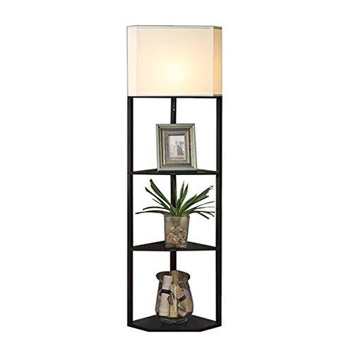 Verstelbare Vloerlamp Moderne Indoor IJzeren Vloerlamp met Plank En 3-laags Opbergplank, Thuis/kantoor/slaapkamer/woonkamer Vloerlamp Huisverlichting