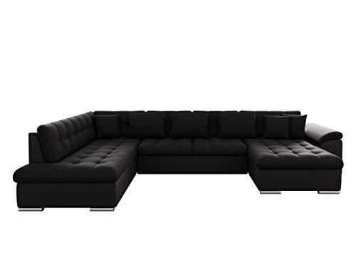 Eckcouch Ecksofa Niko! Design Sofa Couch! mit Schlaffunktion! U-Sofa Große Farbauswahl! Wohnlandschaft! (Ecksofa Rechts, Soft 011 + Porto 36)