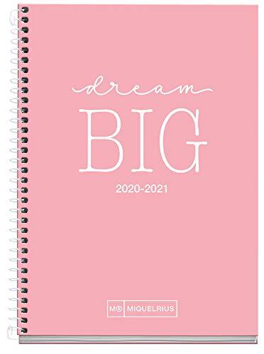 Miquel Rius - Agenda Escolar Write Curso Lectivo 2020-2021, Español, Semana Vista, Tamaño 117x174 mm, Papel 70 g, Cubierta cartón extraduro, Color Rosa